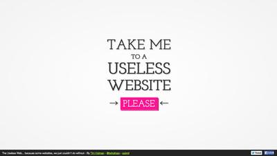 図1 「役に立たない」ウェブサイトを次々と紹介する『The Useless Web』