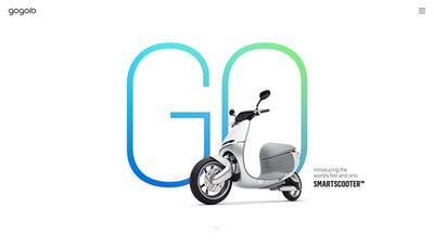 図2 モバイルデバイスで使われるようにデザインされたUIが使われている『Gogoro - Introducing the world's first and only Smartscooter』