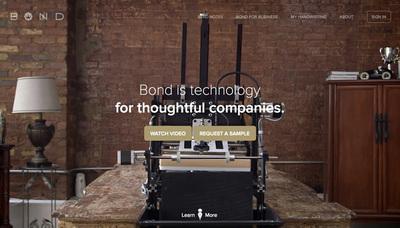図4 メッセージの代筆をロボットが行ってくれるサービス「Bond」