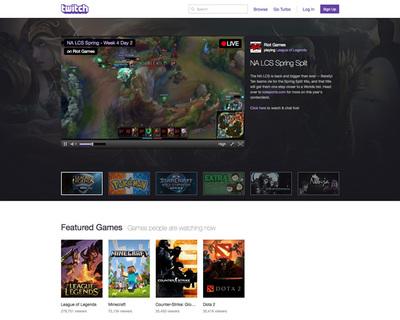 図6 月間1億人ものアクセス数を誇る,ゲーム動画配信プラットフォーム「Twitch」