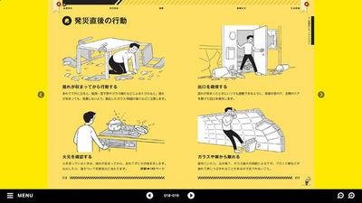 図2 イラストを多用することで,非常に読みやすい防災マニュアルになっている