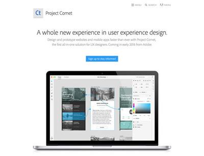 図1 Adobeが開発している,新しいUIデザインツール「Project Comet」