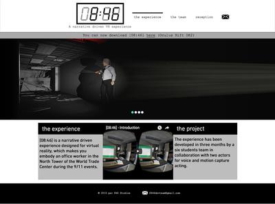図2 「アメリカ同時多発テロ事件」が題材のゲーム,「[08:46]」のウェブサイト