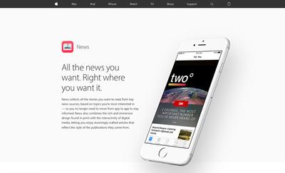 図5 Safariの広告ブロックとともに登場した,Appleの「News」アプリ
