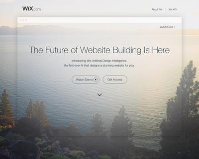 図1 人工知能を用いたサービス「Wix ADI」を紹介した,『Create Your Stunning Website with Wix ADI. It's Easy.』