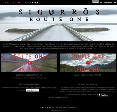 図1 sigur rósのニューシングル用プロモーションをフィーチャした『sigur rós - route one』
