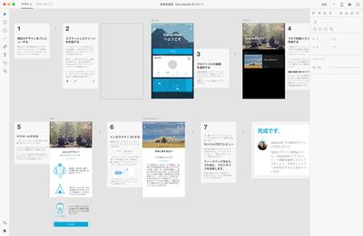 図4 Adobeのプロトタイピングツール『Adobe XD』。素早くビジュアルデザインを制作する機能に始まり,リアルタイムプレヴューや共有機能まで,制作における機能を一つにまとめて提供している