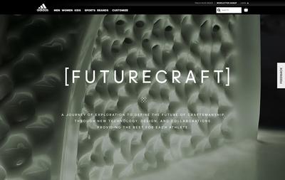 図1 adidas の3Dプリントシューズ,「Futurecraft 4D」をフィーチャーした『adidas FUTURECRAFT』
