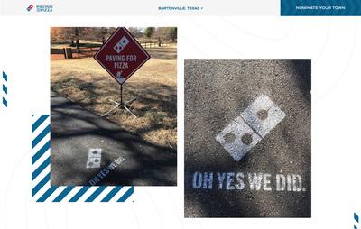 図4 Domino's Pizzaの修復作業が行われた町の一つ,<wbr/>テキサス州バートンビル。提供された道具を活用しながら,<wbr/>道路の補修がなされていることがよく分かる