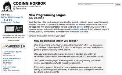図1 ジャーゴンに関するエントリ