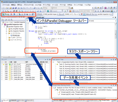 図2 インテルParallel Debugger Extension