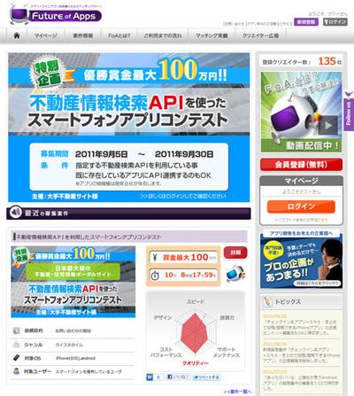 Future of Appsのトップページ