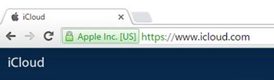 Google Chromeでアップルの「iCloud」にアクセスした結果