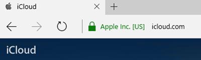 Windows Edgeでアップルの「iCloud」にアクセスした結果