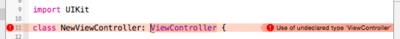 図7 親クラスをViewControllerに変更してビルド