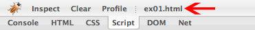 図1 Scriptタブに表示させるファイルの選択