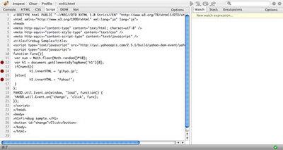 図2 Scriptタブに表示させるファイルの選択