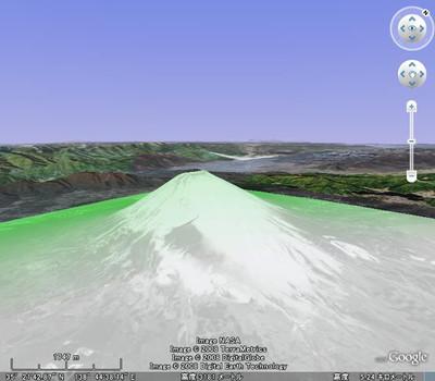 図1 富士山にグリーンの画像をオーバーレイ