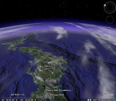 図3 Global Cloud Map Overlay 標高600m版