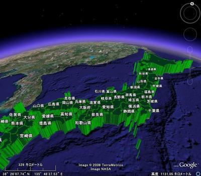 図6 日本列島丸ごとグラフ化