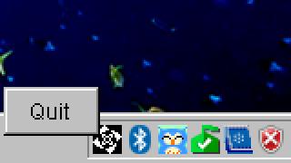 図1 メニューが表示された様子(Windowsの場合)