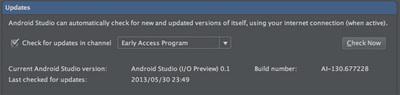 図3 「Preferences / Updates」の設定画面