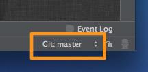 図5 Git連携中のステータスバーの様子