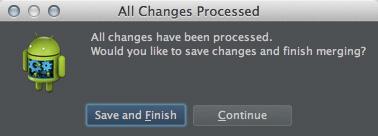図13 「All Changes Processed」ダイアログ
