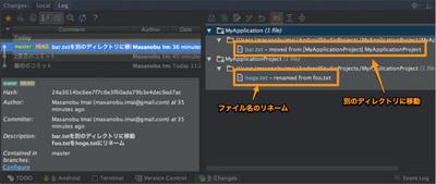 図1 ファイルの移動とリネーム結果