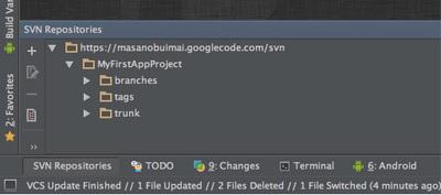 図5 「SVN Repositoriesツールウィンドウ」
