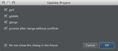 図6 「Update Project」ダイアログ