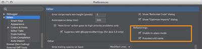 図4 「Preferences / Editor」設定画面