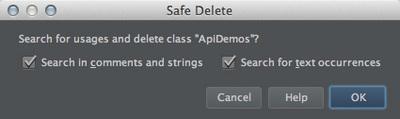 図9 「Safe Delete」ダイアログ