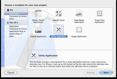 図4 Create a new Xcode projectダイアログ