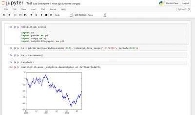 図2 アドホック分析例(Jupyter)