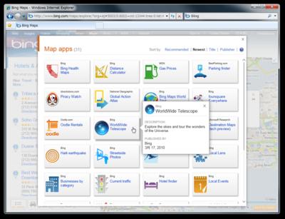 図2 Bing Map App Gallery