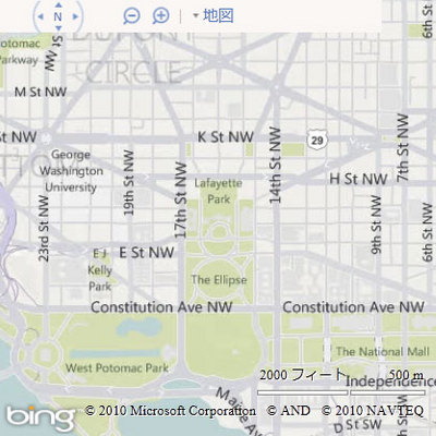 図3 Bing Maps AJAX Control 7.0