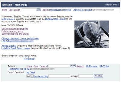 図1 Bugzillaの画面