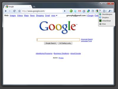 図1 Browser Actionsのモック