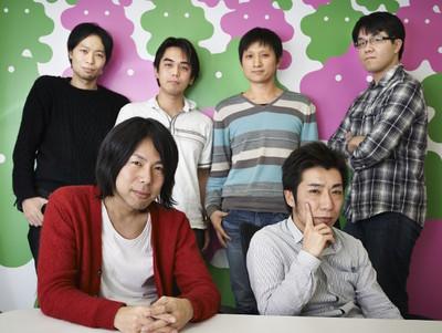 写真1 (左奥から)村越氏,前田氏,劉氏,長谷部氏,(左手前から)坂本氏,奈良氏