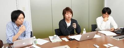 写真1 (左から)村越氏,哲平氏,篠原氏
