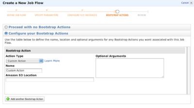 図1 「Configure your Bootstrap Actions」を選択