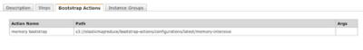 図2 「Bootstrap Actions」に設定したbootstrapが表示される