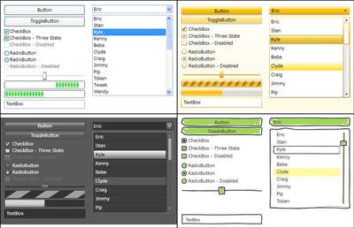 図2 CodePlexというサイトで提供されているコントロールテンプレート「WPF Themes」 の一部