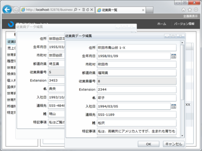 図3 C1Windowを使用して複数の子ウィンドウを開いた状態