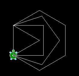 図1 正四角形,正五角形,正六角形の実行結果