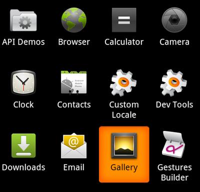 図12 Galleryアプリ