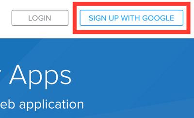 図1 SIGN UP WITH GOOGLEボタン
