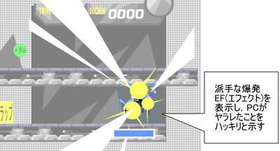 Fla画面4 PCクリップ内 ヤラレ(爆発)状態