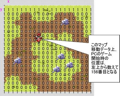 Fla画面1 データをマップに載せたイメージ